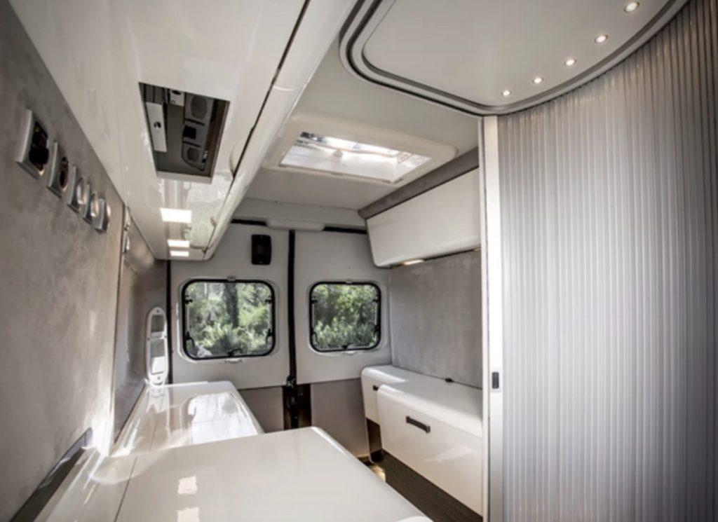Fiat Ducato camper interior back view