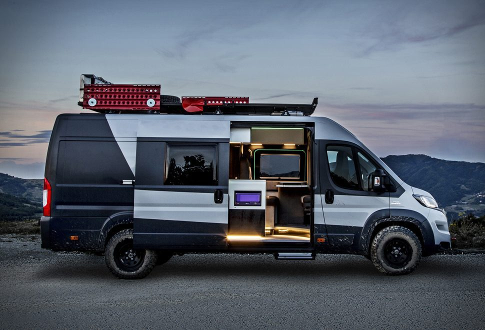 the new 4x4 exhibition fiat ducato camper looks unreal. Black Bedroom Furniture Sets. Home Design Ideas