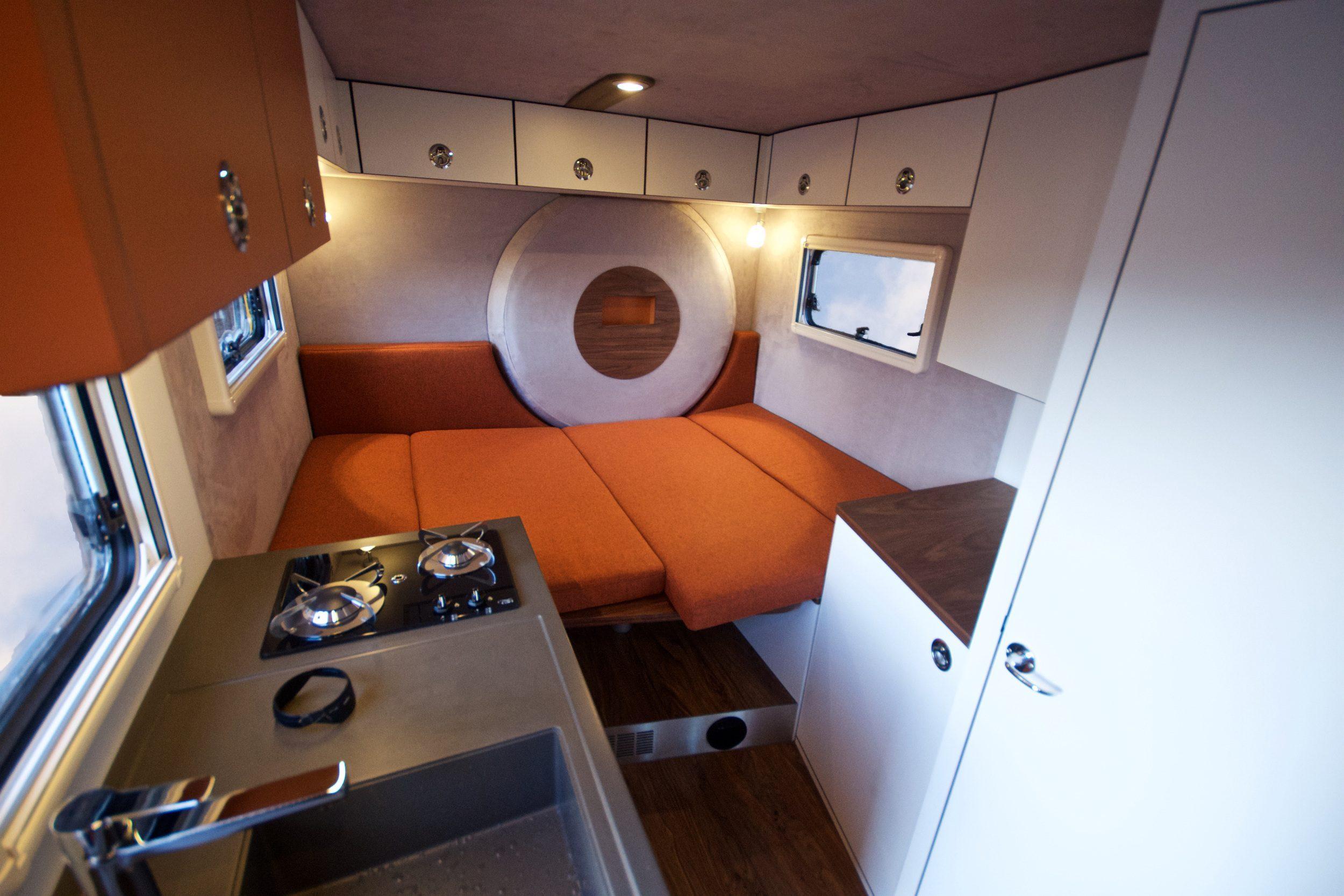 Orange Work Custom Camper - High View