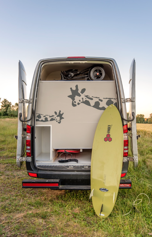 This Moving House Sprinter Conversion - Surfboard
