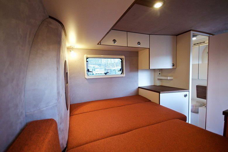 Orange Work Custom Camper - Bed