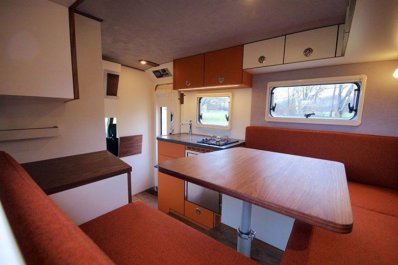 Orange Work Custom Camper - Living