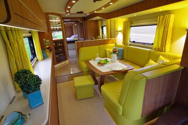 Luxury Motorhome - Living area