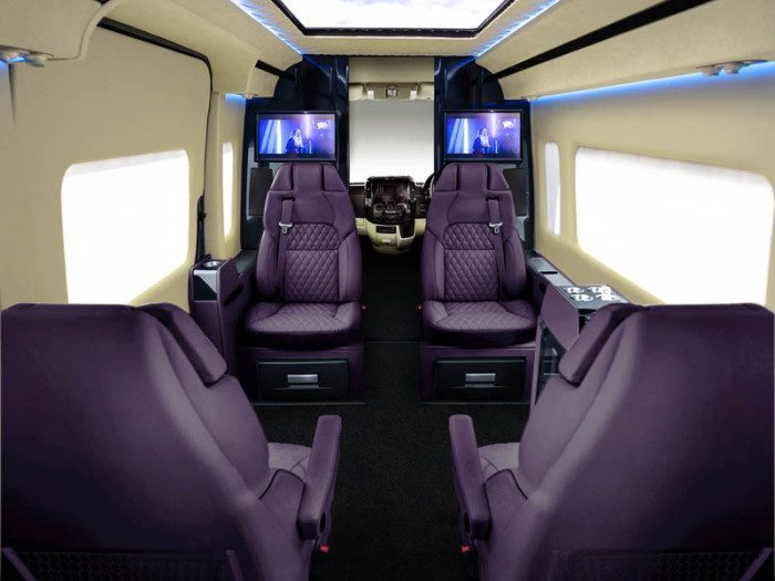 Senzati Jet Mercedes Sprinter - Seating Plan 1