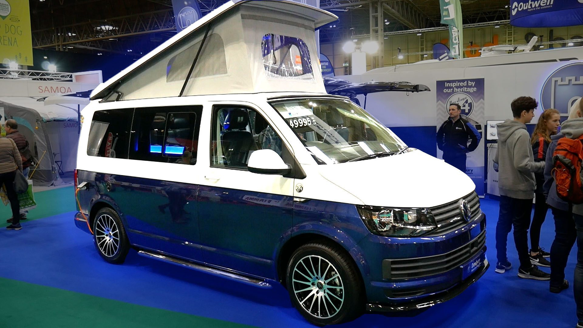 take a peak inside a futuristic custom vw t6 camper. Black Bedroom Furniture Sets. Home Design Ideas
