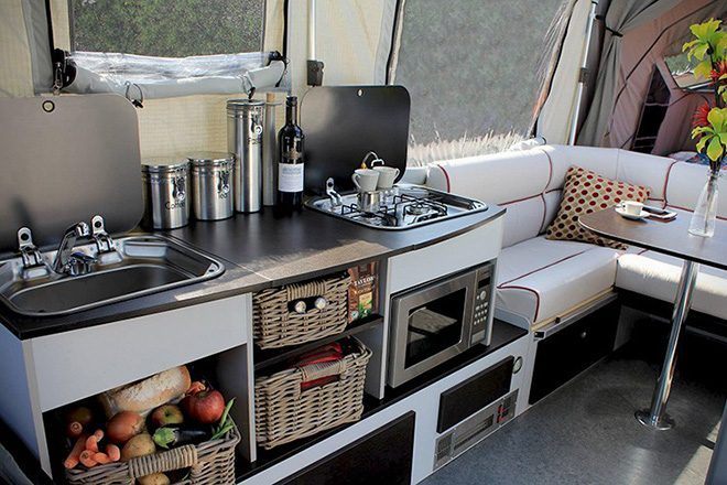 Pop Up Campers - opus kitchen