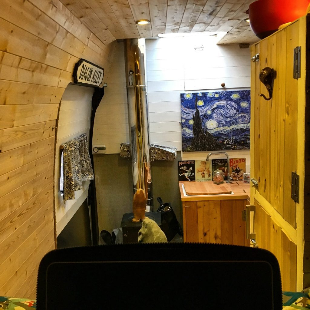movano camper conversion - inside