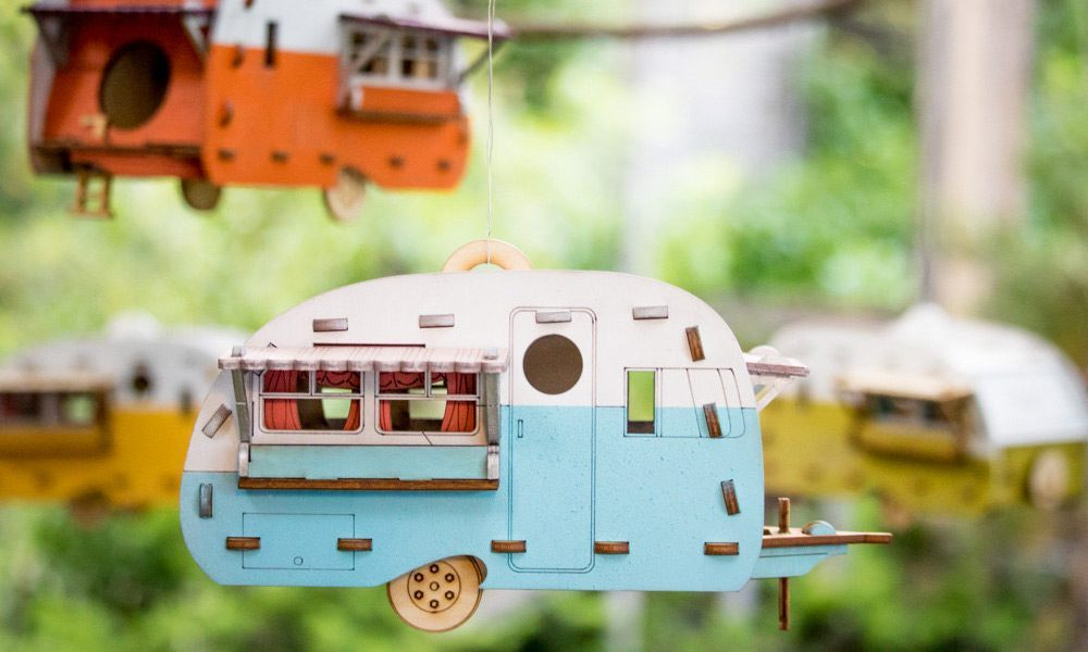 Vintage Camper Bird House