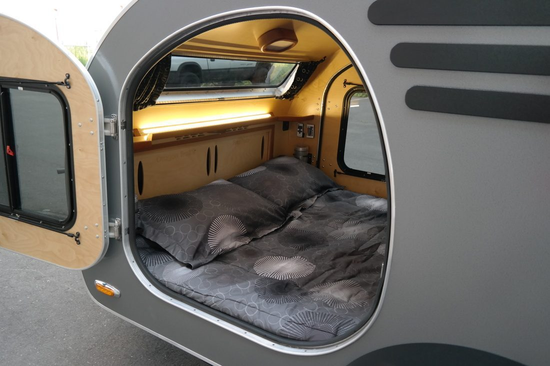 Teardrop Camper - Bed Area