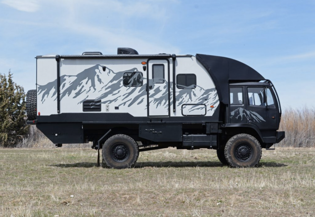 off grid RV side