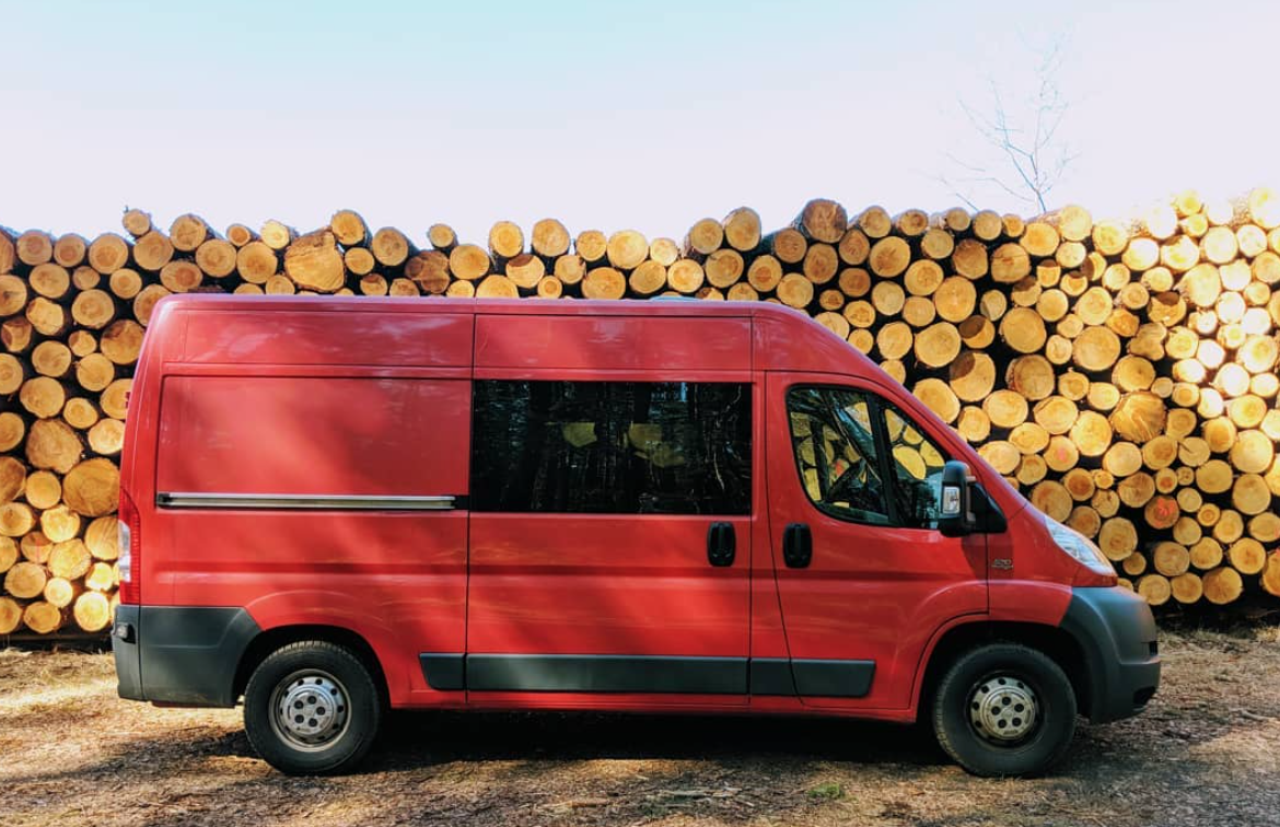 Van Life Czech Republic - Log Pile