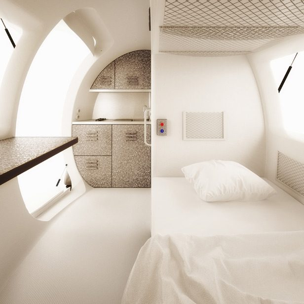 Top Eco Campers - Inside the ecocapsule