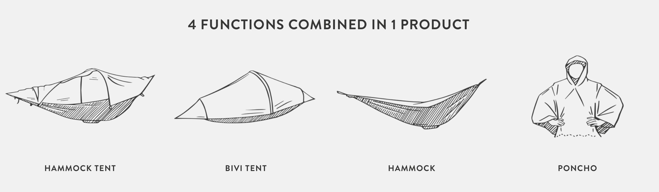 Tent Hammock - 4 in 1