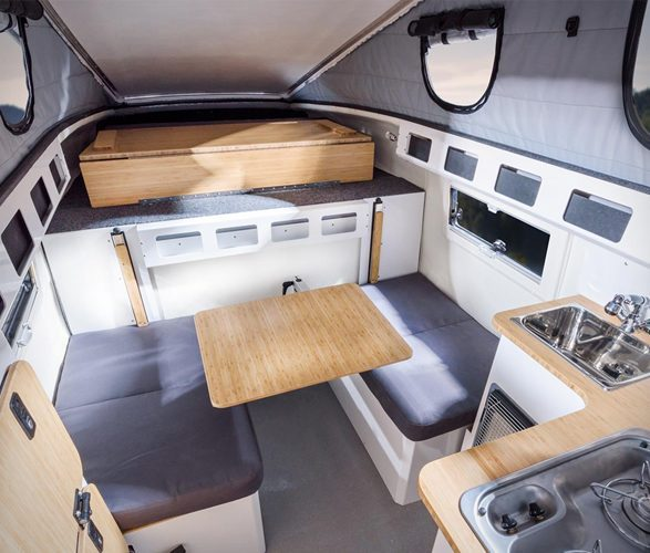 pop up truck camper interior