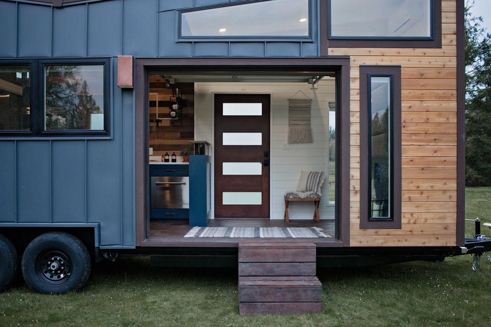 Tiny Home - flip up door