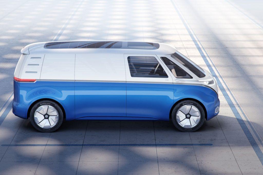 vw id buzz cargo van is volkswagen 39 s latest electric. Black Bedroom Furniture Sets. Home Design Ideas