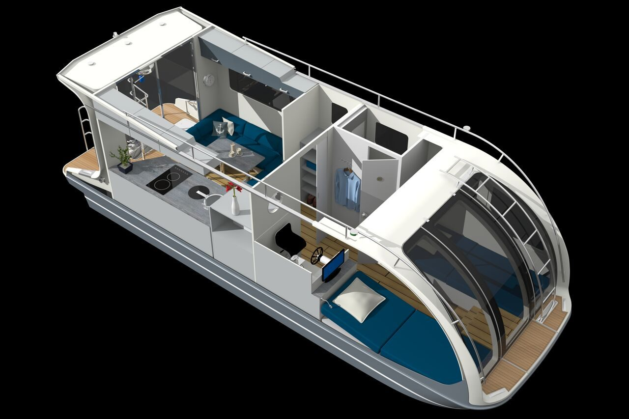 Caravanboat - interior