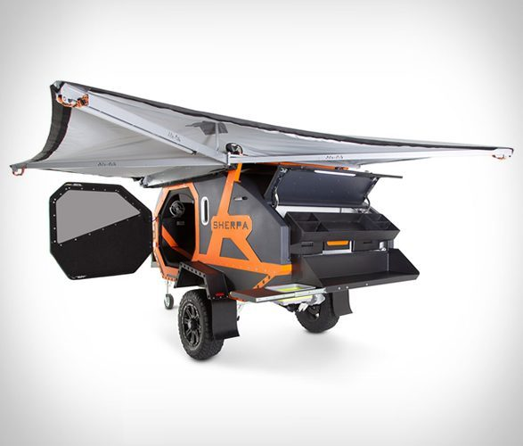 small campers - sherpa trailer exterior wing