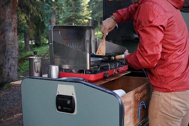 camper trailer - cooking