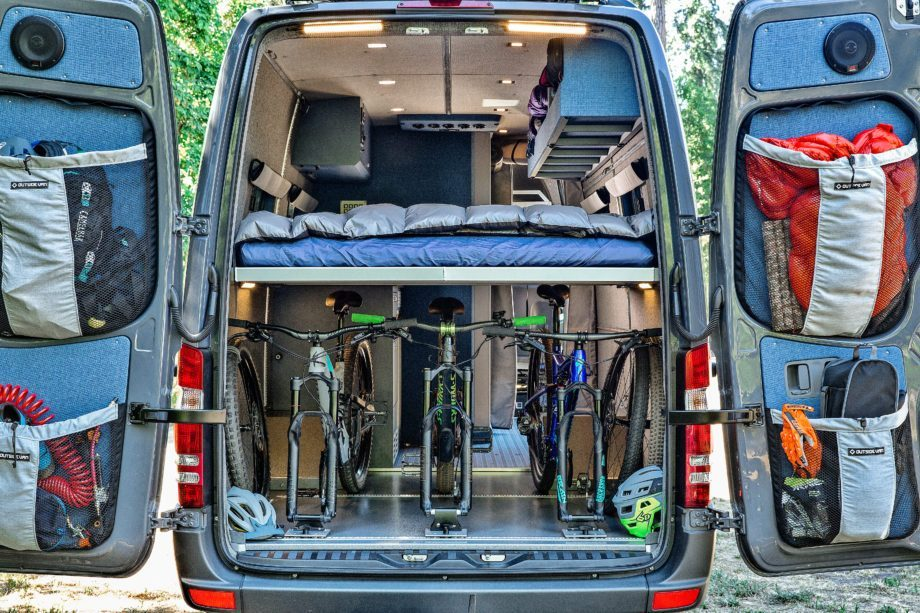 Off Grid Van - bike storage