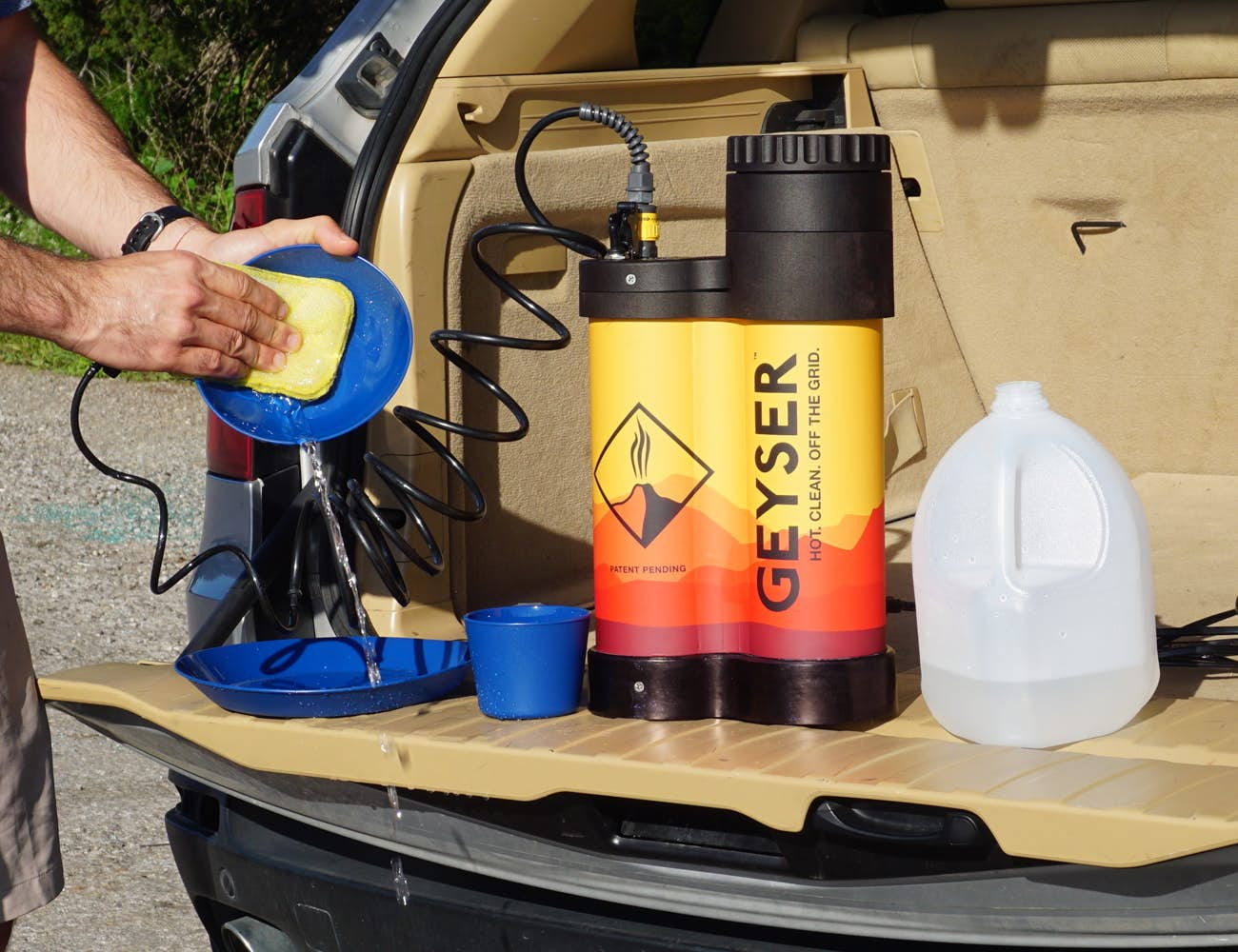 Camper Shower - Geyser Washing