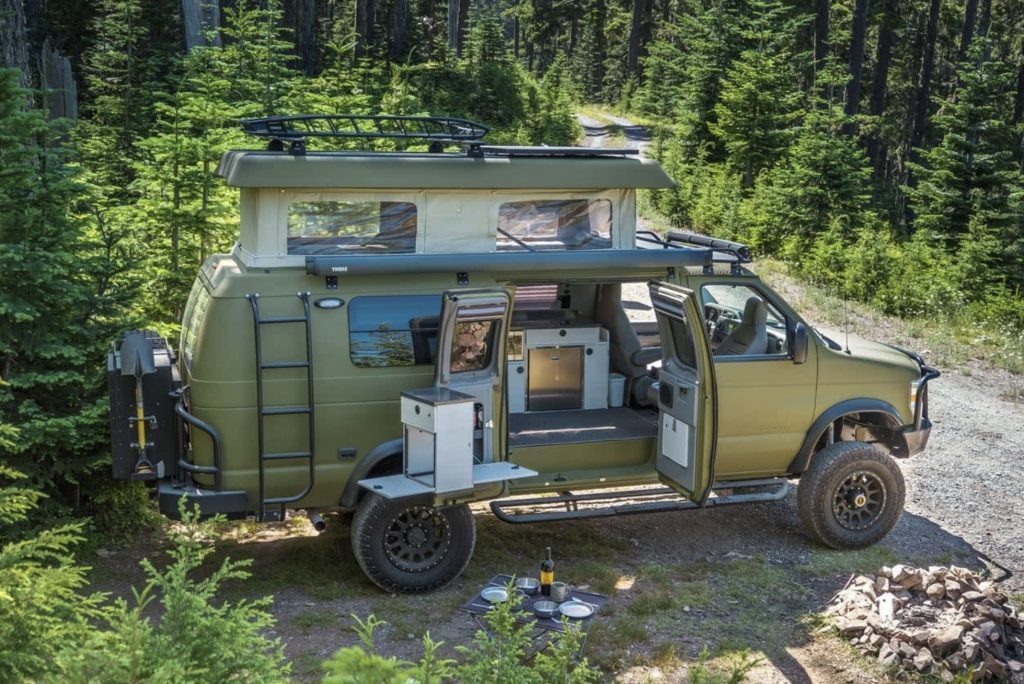 Best van to live in - green Sportsmobile Classic 4x4 exterior