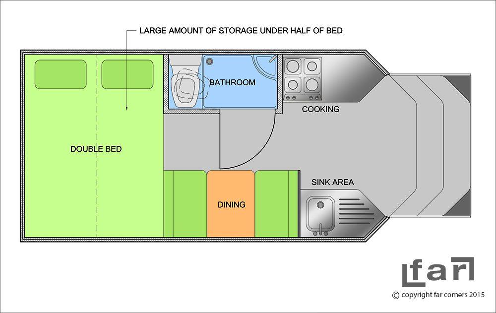 Land Rover Camper - Concept floor plan