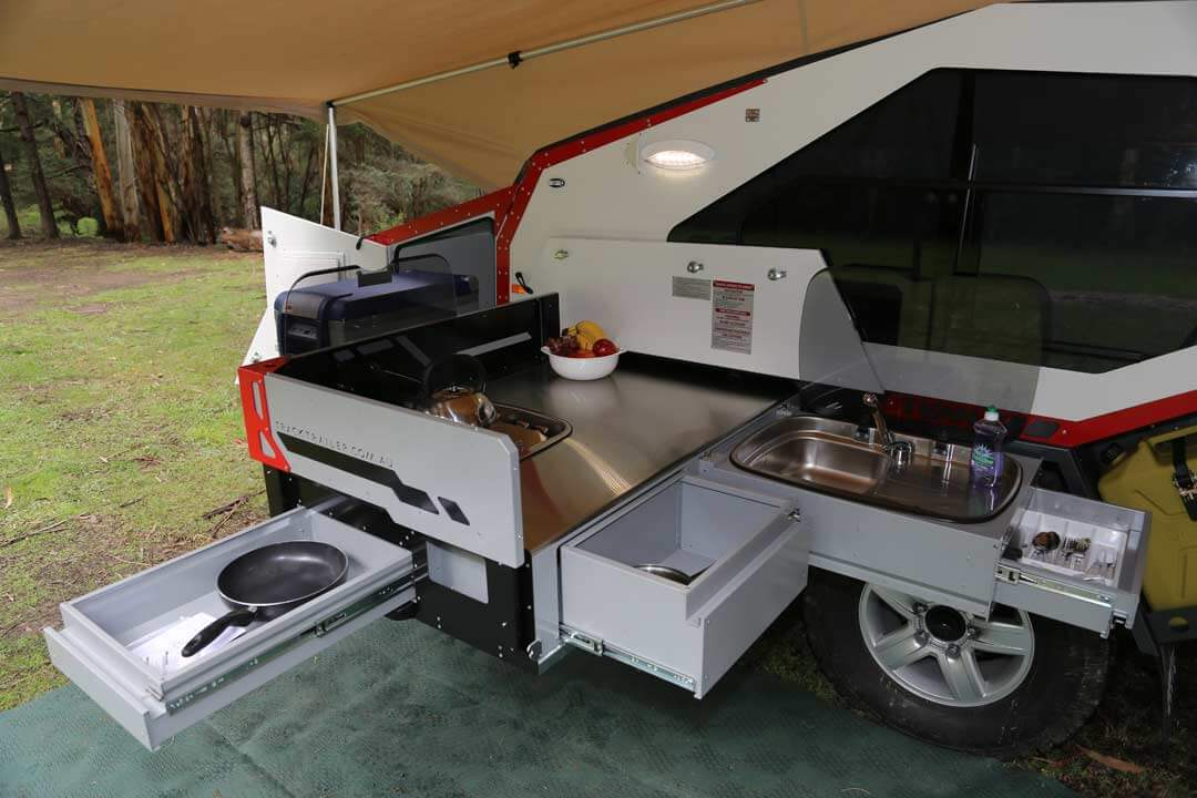 Off road trailer - kitchen