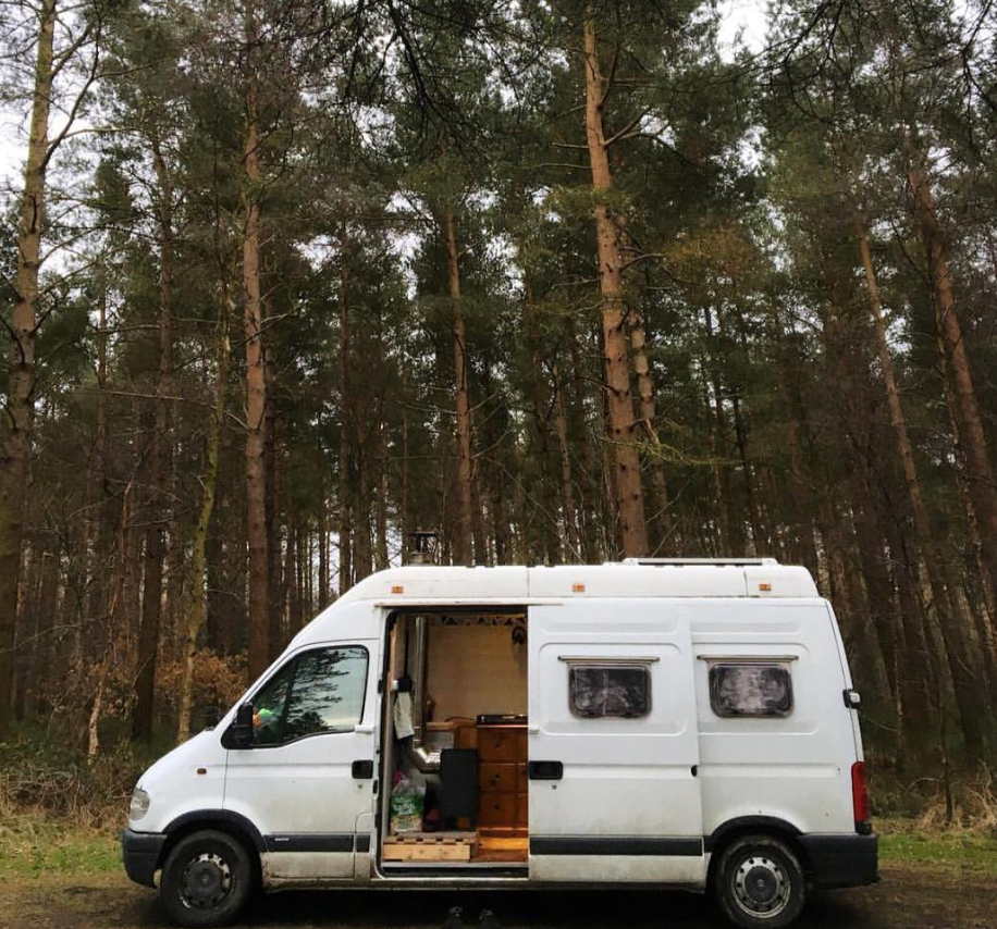 Best van to live in - moving long shot