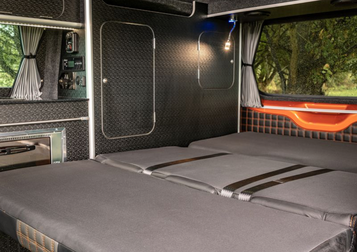 Ford Transit Campervan - bed down