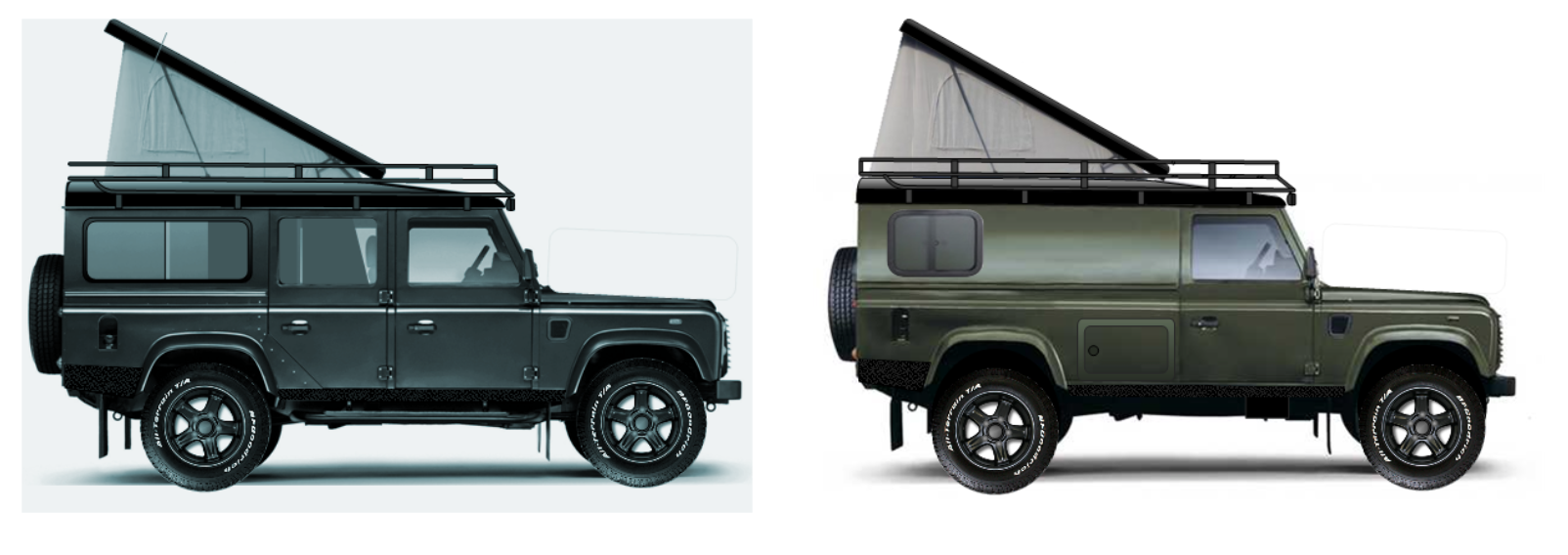Land rover camper - the twins