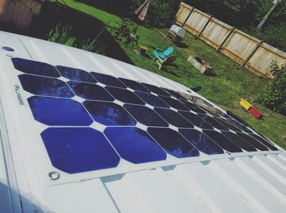 stealth camper van - solar