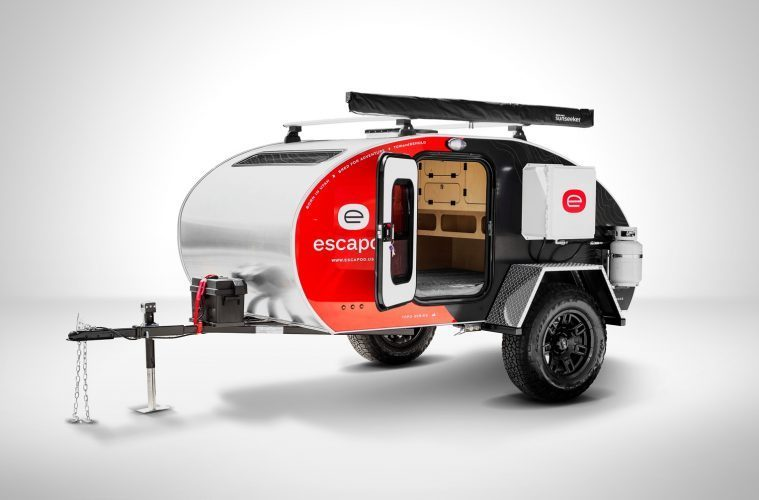 Best Teardrop Trailers - vibrantly coloured Escapod trailer