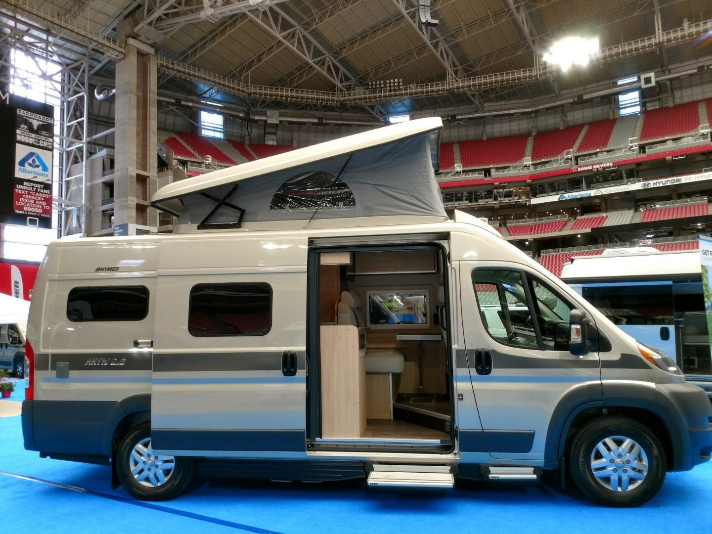 pop top camper - showroom