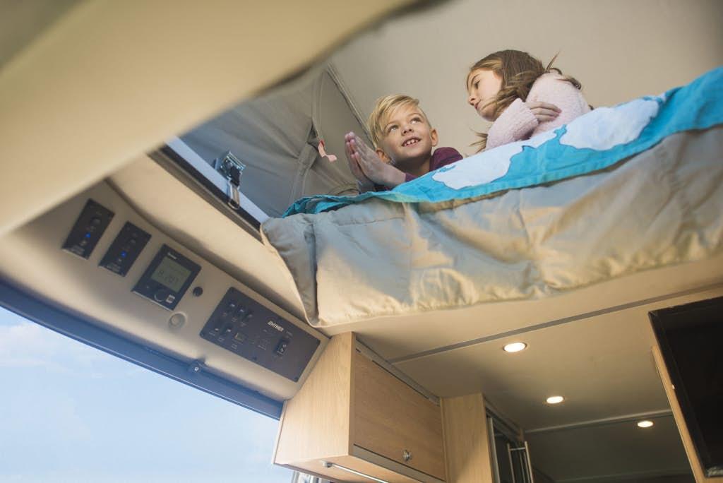 pop top camper - loft bed