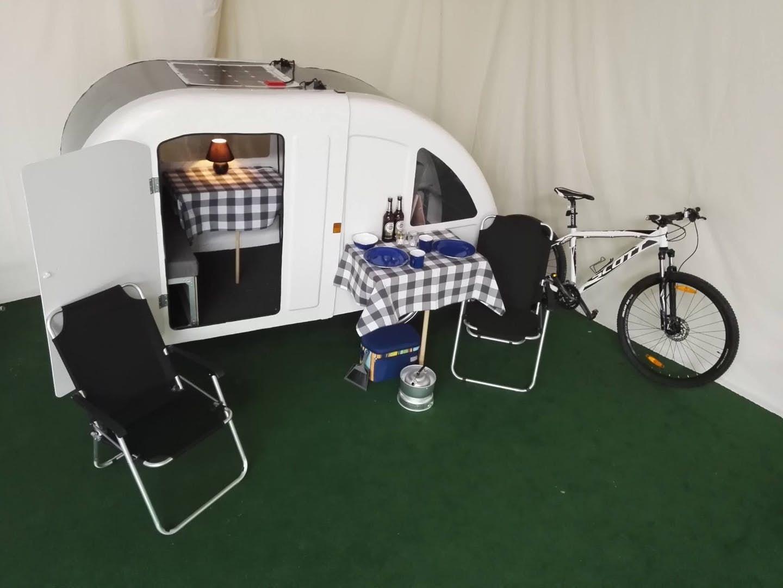 bicycle camper - set up