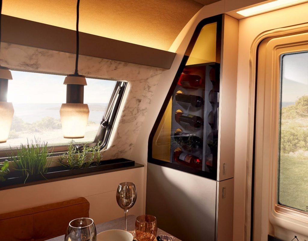 Luxury Trailer - Wine rack