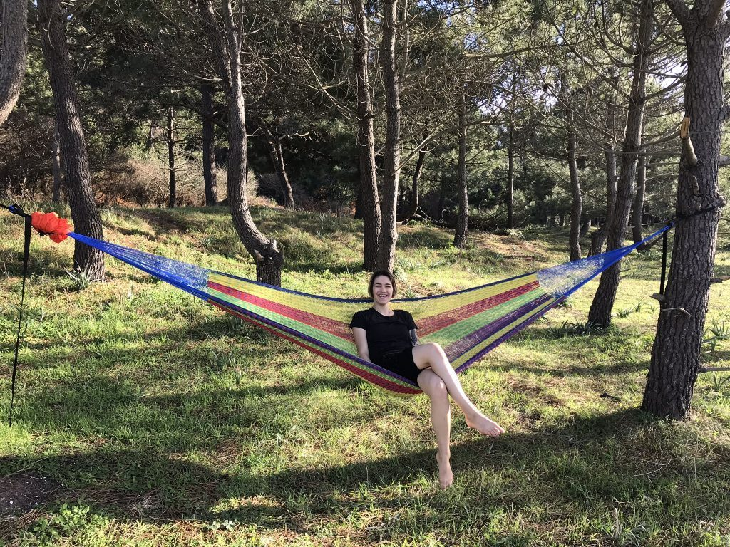 travel hammock - sitting