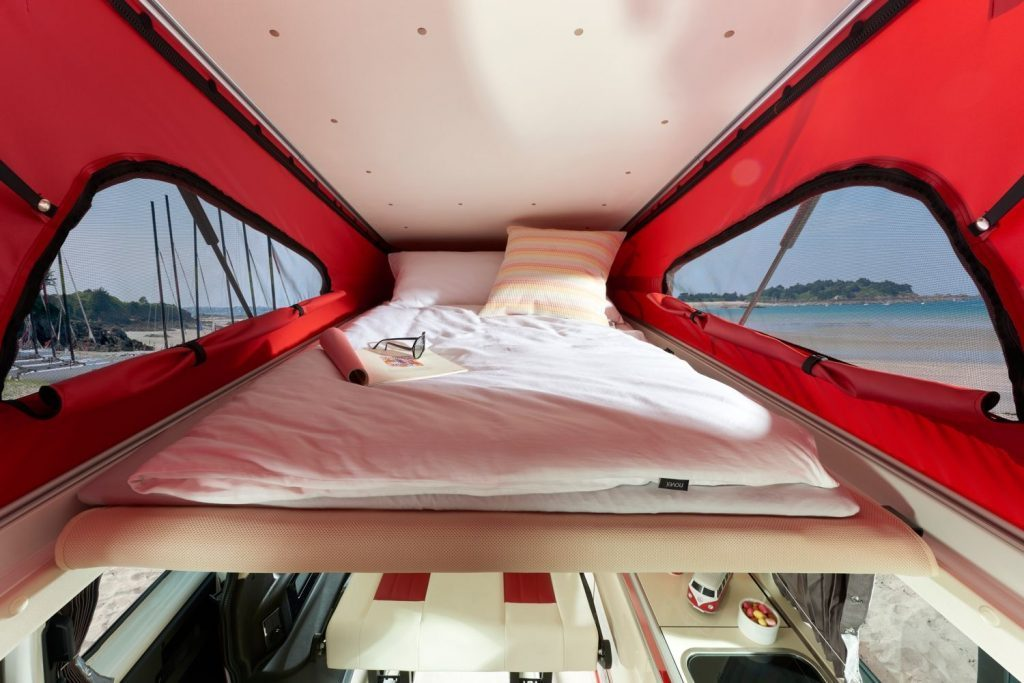 vw california camper - bed 2