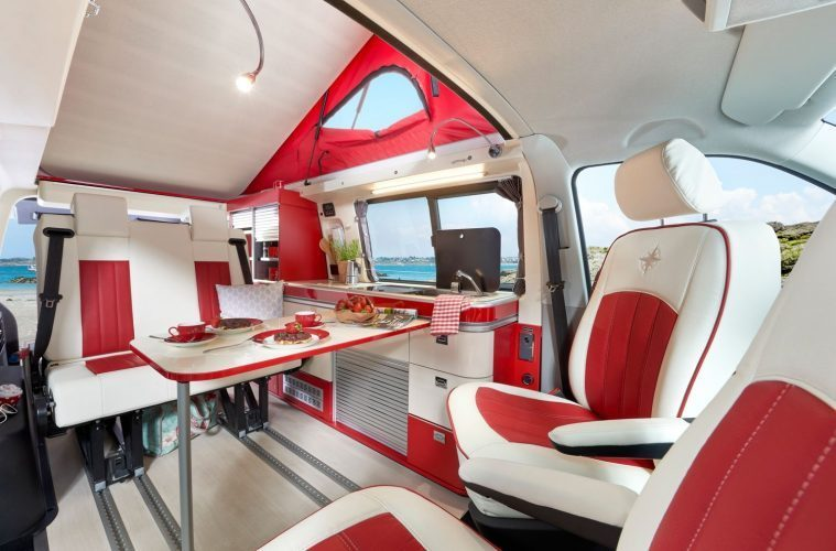 vw california camper - inside