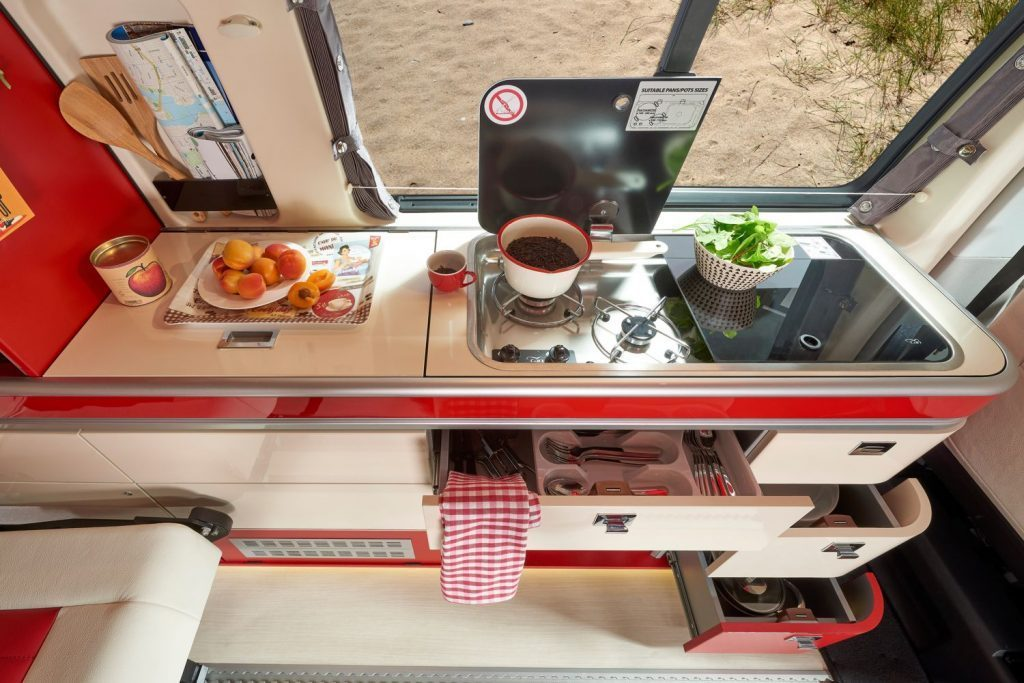 vw california camper - kitchen