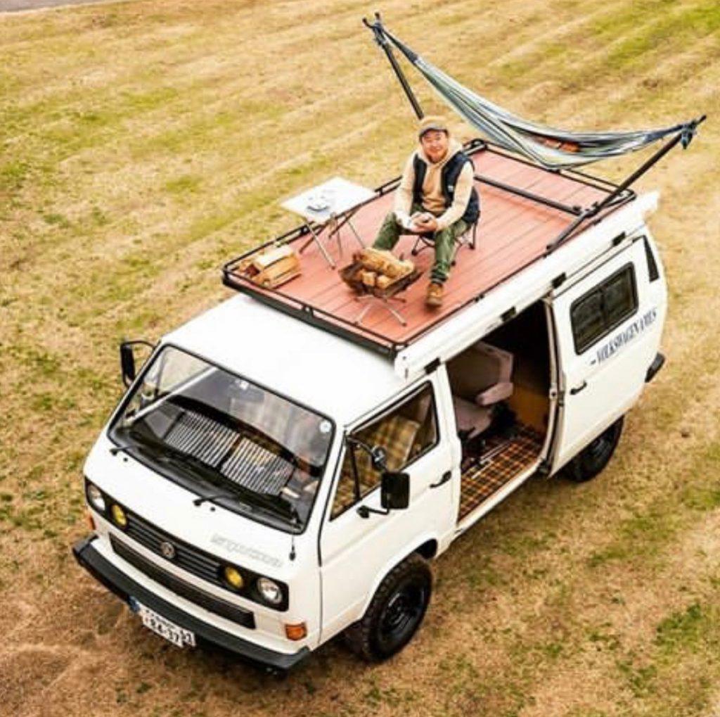 van life ideas - roof deck