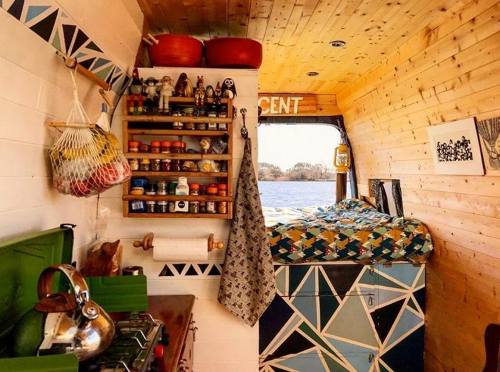 van life ideas - log cabin