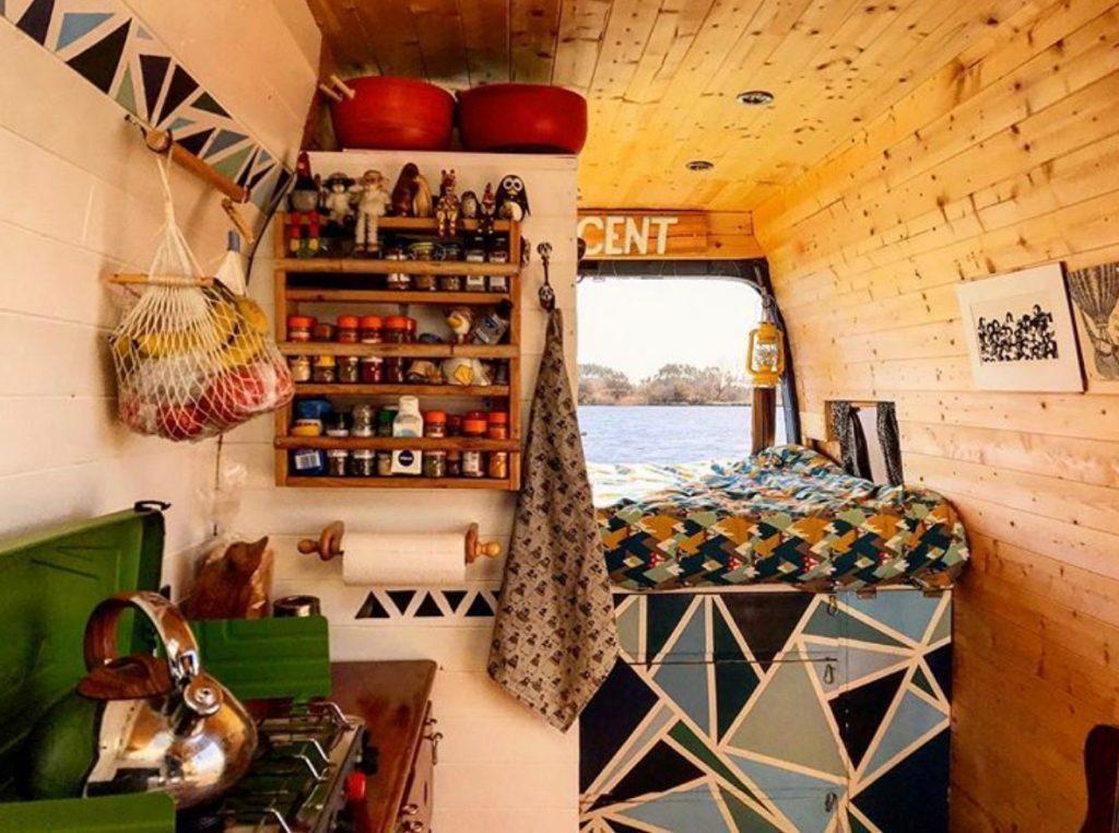 van life ideas - log cabin