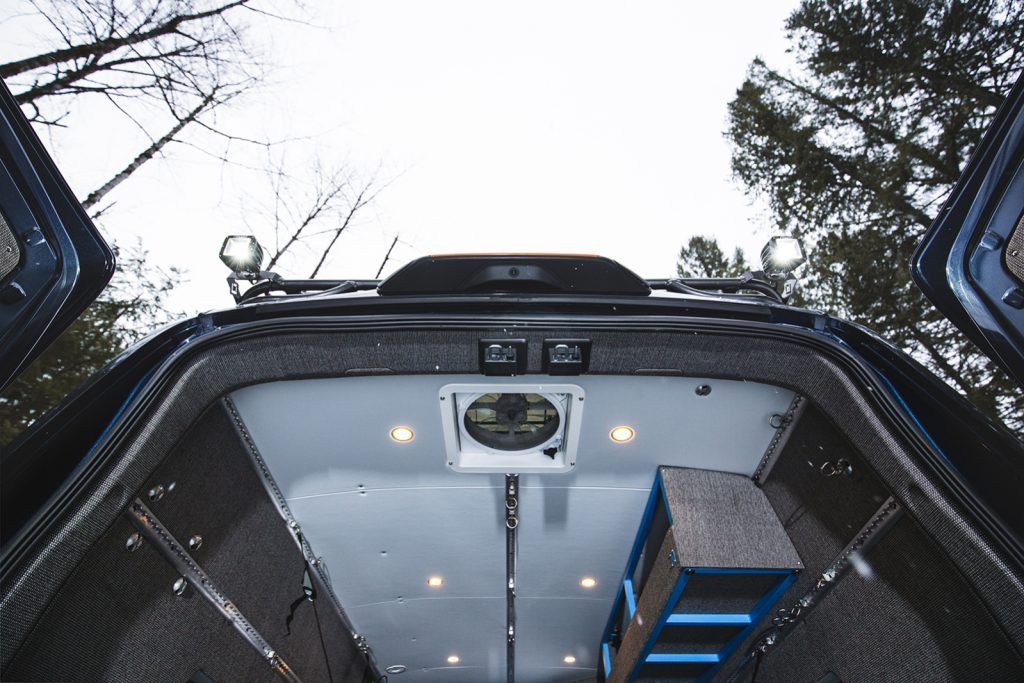 Outside Van - High roof ceiling on Ford Transit