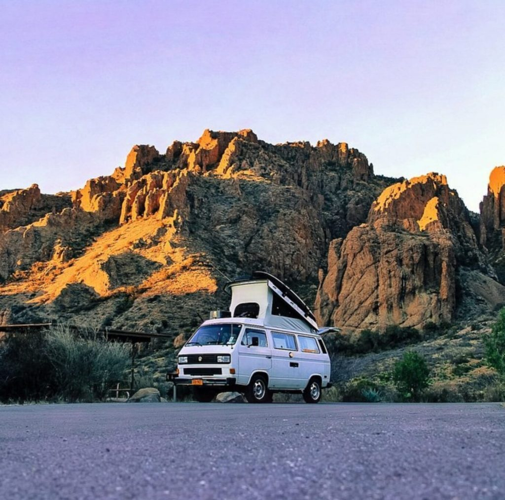 van life travel - Big Bend