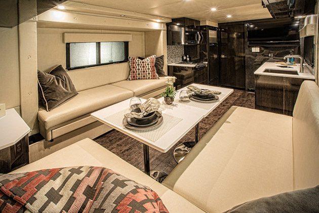 carbon fiber caravan - dining