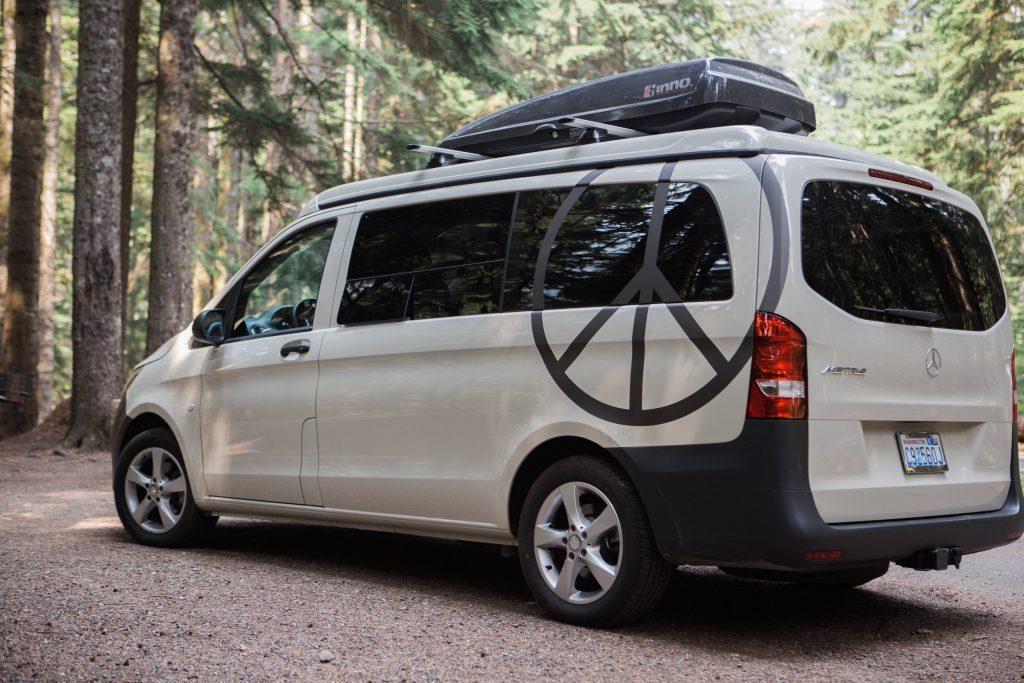 compact camper van - peace