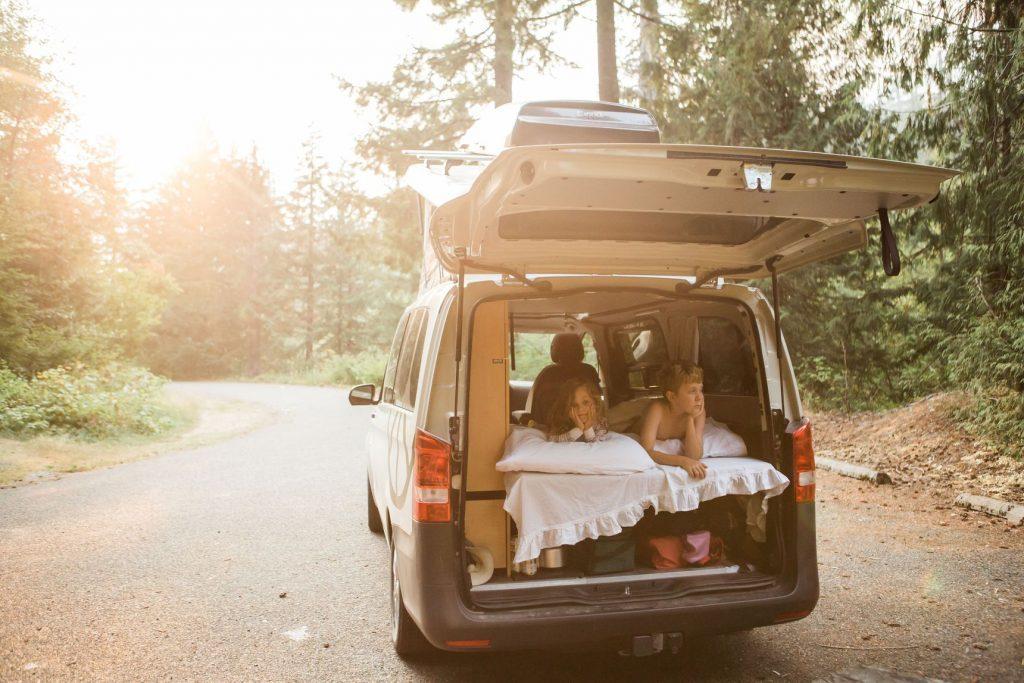 compact camper van - relaxing