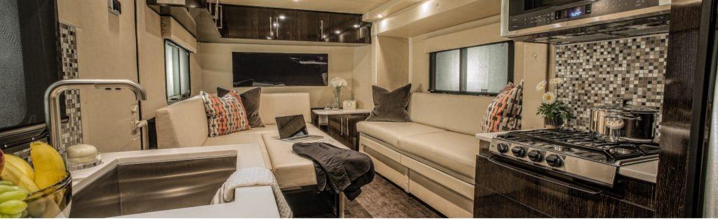 carbon fiber caravan - interior